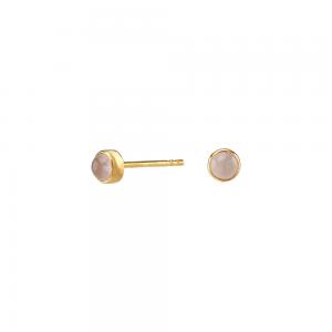Nordahl - Sweets rosen quartz 4,5mm örhänge guld