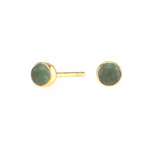 Nordahl - Sweets grön aventurine 4,5mm örhänge guld