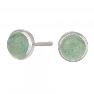 Nordahl - Sweets grön aventurine 7mm örhänge silver