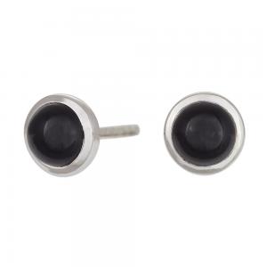 Nordahl - Sweets svart onyx 7mm örhänge silver
