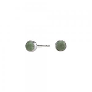 Nordahl - Sweets grön aventurine 4,5mm örhänge silver