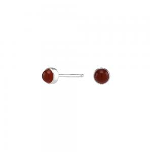 Nordahl - Sweets röd onyx 4,5mm örhänge silver