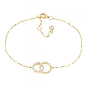 Joanli Nor - Anna cirkel m cz armband guld
