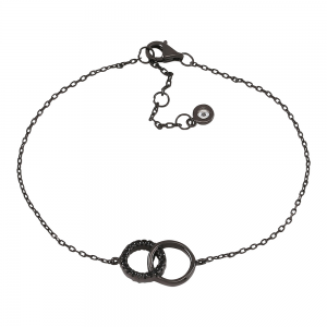 Joanli Nor - Anna cirkel m cz armband oxiderad