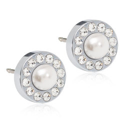 Blomdahl - BRILLIANCE HALO PEARL, 8 MM WHITE - Blomdahl - BRILLIANCE HALO PEARL, 8 MM WHITE