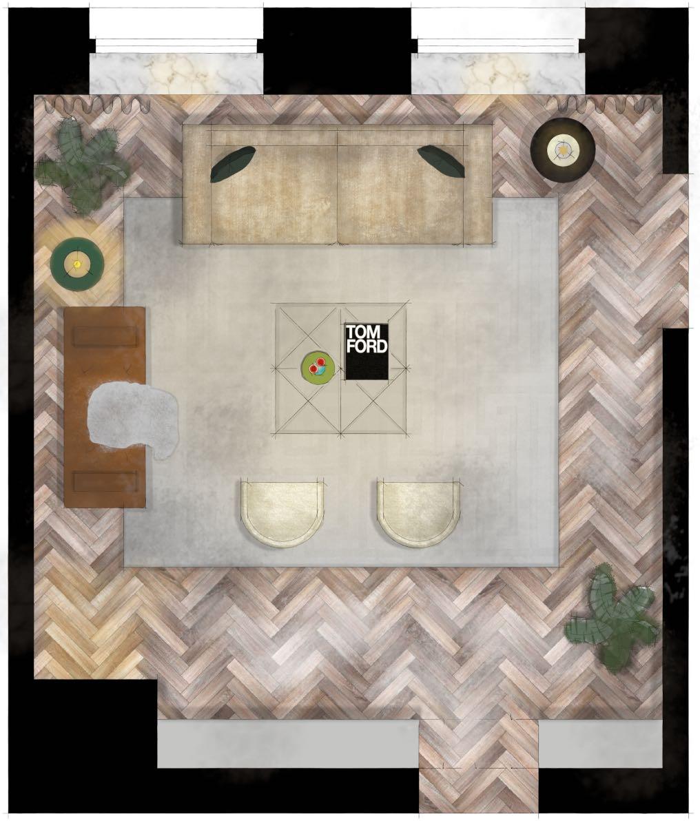 Plan - sketchup