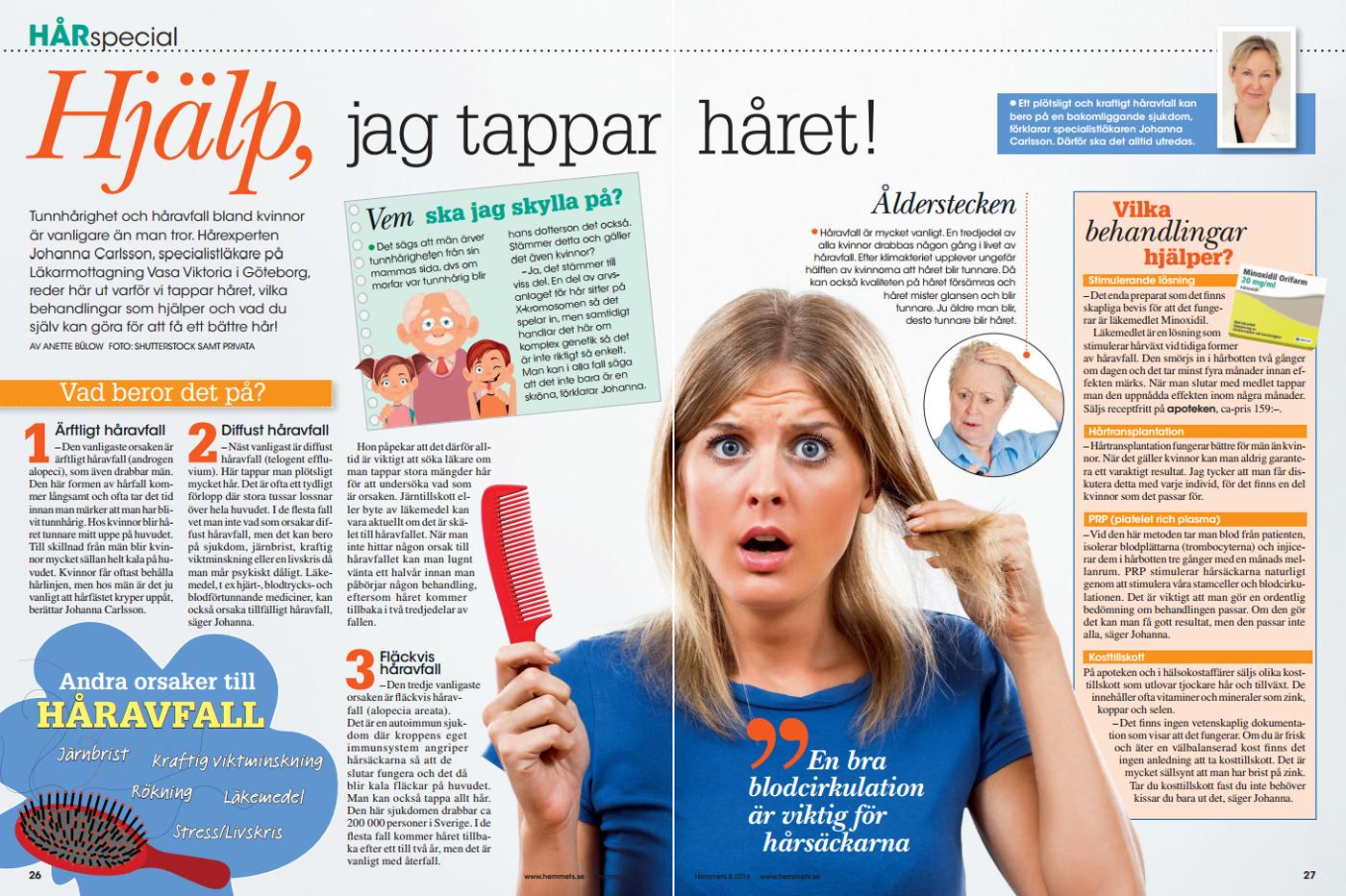 dermatolog håravfall stockholm