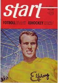 Ove Grahn, på framsidan till den kortlivade sporttidningen Start
