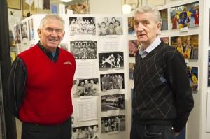Donald Lindblom och Gunnar Kämpendahl var på plats när Göteborgs Idrottshistoriska Museum invigde en speciell handbollsavdelning