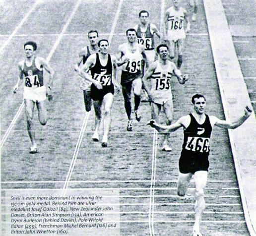Peter Snell vinner 1500 m