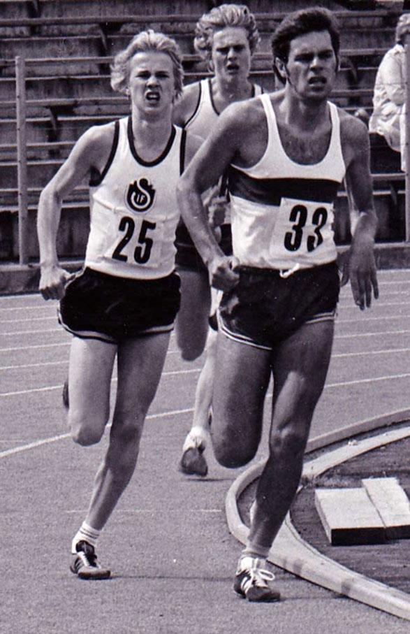 Här springer jag (nr 33) 800 m i GIF-dräkt 1972.