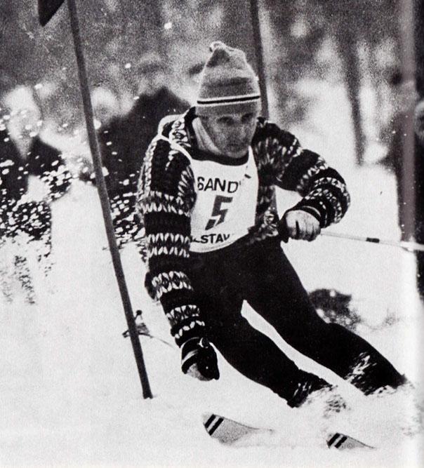 Bengt-Erik Grahn, en gudabenådad slalomåkare och förebild för Ingemar Stenmark. Tyvärr kom han alltför sällan i mål.