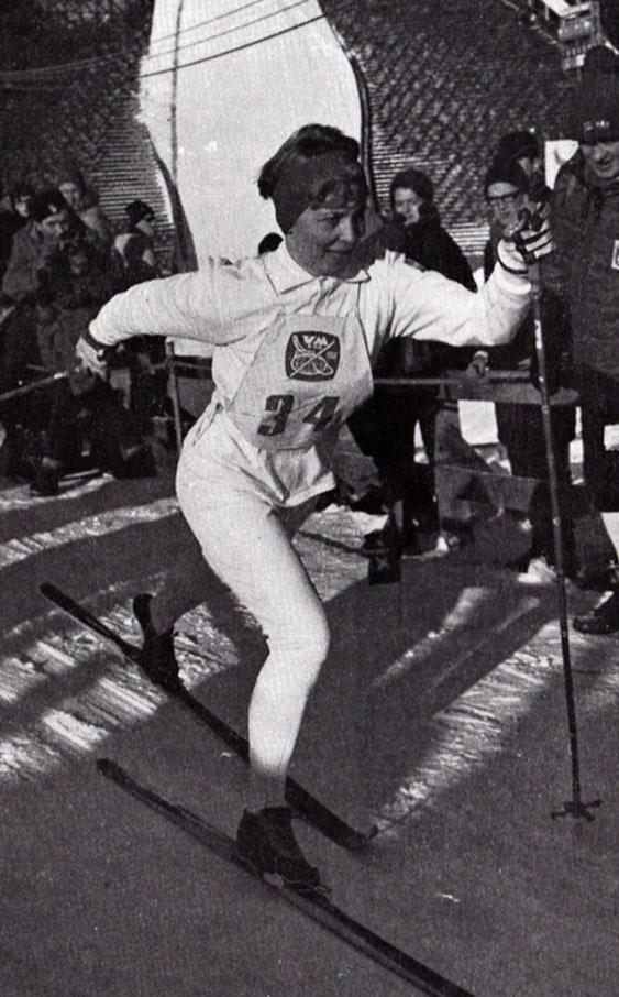 Toini Gustavsson, bästa svenska vid skid-VM