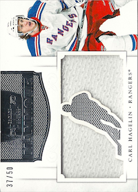 2011-12 Dominion Mammoth Jerseys #30 Carl Hagelin/50