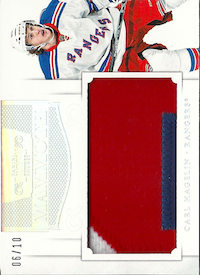 2011-12 Dominion Mammoth Jerseys Patches #30 Carl Hagelin/10