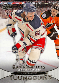 2011-12 Upper Deck Exclusives #484 Carl Hagelin YG /100