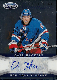 2012-13 Certified Signatures #46 Carl Hagelin