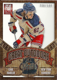 2012-13 Elite The Great Outdoors #21 Carl Hagelin /500