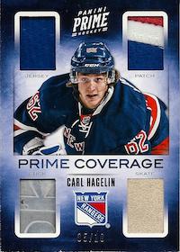 2012-13 Panini Prime Coverage #6 Carl Hagelin /10