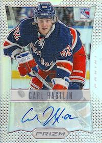 2012-13 Panini Prizm Autographs #10 Carl Hagelin