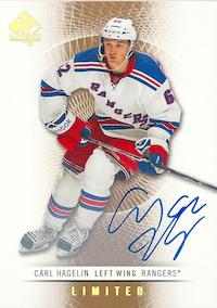 2012-13 SP Authentic Limited Autographs #59 Carl Hagelin D