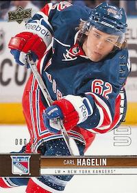 2012-13 Upper Deck Exclusives #118 Carl Hagelin /100