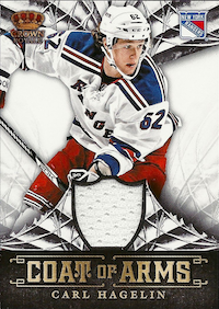 2013-14 Crown Royale Coat of Arms Materials #CACH Carl Hagelin