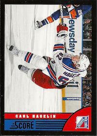 2013-14 Score Black #333 Carl Hagelin
