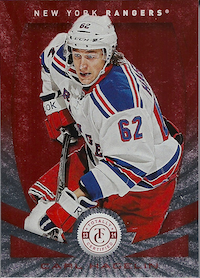 2013-14 Totally Certified Platinum Red #62 Carl Hagelin /100