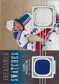 2014-15 Artifacts Treasured Swatches Jerseys Blue #TSCH Carl Hagelin B