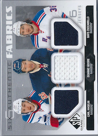 2014-15 SP Game Used Authentic Fabrics Sixes #AF6NYRMON Carl Hagelin/Dominic Moore/Mats Zuccarello/Carey Price/Lars Eller/Andrei Markov B