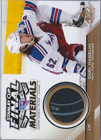2014-15 SP Game Used Stanley Cup Finals Materials Game Used Pucks #SCFGUPCH Carl Hagelin G1