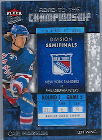 2014-15 Ultra Road to the Championship #RTCNYRCH3 Carl Hagelin/Round 1 (4/27/14)