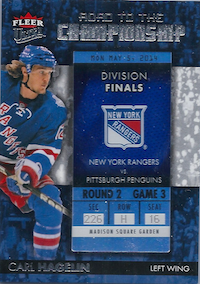 2014-15 Ultra Road to the Championship #RTCNYRCH5 Carl Hagelin/Round 2 (5/5/14)