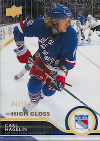 2014-15 Upper Deck Exclusives Spectrum #380 Carl Hagelin /10