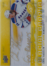 2014-15 Upper Deck Ice Glacial Graphs Gold #GGCH Carl Hagelin /Go Rangers