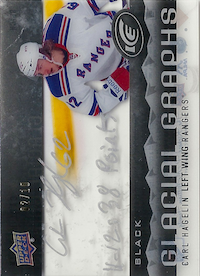 2014-15 Upper Deck Ice Glacial Graphs Black #GGCH Carl Hagelin/11-12: 38 Points /10