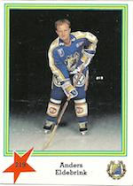 1989-90 Swedish Semic Elitserien Stickers #219 Anders Eldebrink