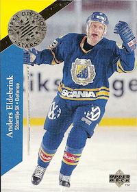 1995-96 Swedish Upper Deck 1st Division Stars #DS6 Anders Eldebrink