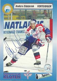 1993-94 Swiss HNL #11 Anders Eldebrink