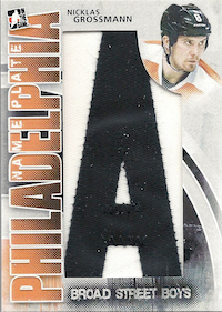 2011-12 ITG Broad Street Boys Nameplate Letters A #NG Nicklas Grossman 1/1