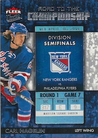 2014-15 Ultra Road to the Championship #RTCNYRCH4 Carl Hagelin/Round 1 (4/30/14)