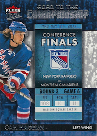 2014-15 Ultra Road to the Championship #RTCNYRCH10 Carl Hagelin/Round 3 (5/29/14)