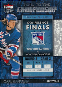 2014-15 Ultra Road to the Championship #RTCNYRCH8 Carl Hagelin/Round 3 (5/22/14)