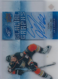 2015-16 Upper Deck Ice Glacial Graphs #GGCH Carl Hagelin B
