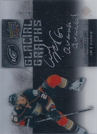 2015-16 Upper Deck Ice Glacial Graphs Black #GGCH Carl Hagelin/45/Quack Quack