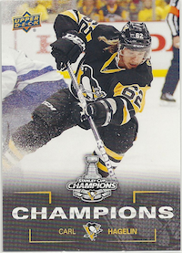 2015-16 Upper Deck Stanley Cup Champions Carl hagelin