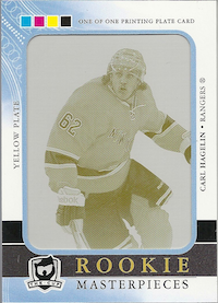 2011-12 The Cup Printing Plates SP Authentic Yellow #209 Carl Hagelin