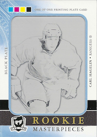 2011-12 The Cup Printing Plates SP Authentic Rookie Extended Black #R63 Carl Hagelin