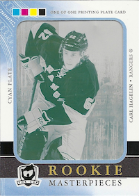 2011-12 The Cup Printing Plates Ultimate Collection Cyan #90 Carl Hagelin
